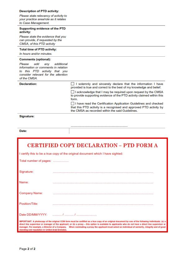 UAE PTD Activities Explained - UAE - Case Management Society