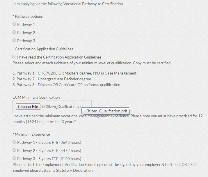 The Ccm Online Application Form Case Management Society Of